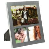 3 in 1 Hanging Aluminium Photo Frame - Silver