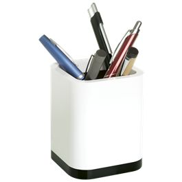 Square Multi Purpose Pen Holder - White/Royal, White/Black, Whit