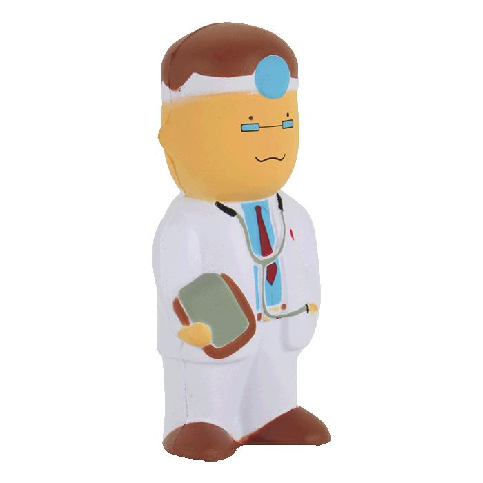 Doctor Shaped Stress Ball - Avail in: Neutral