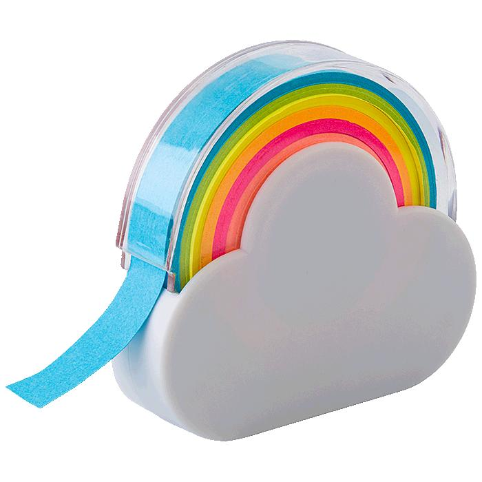Rainbow Memo Tape Dispenser  - Avail in: White