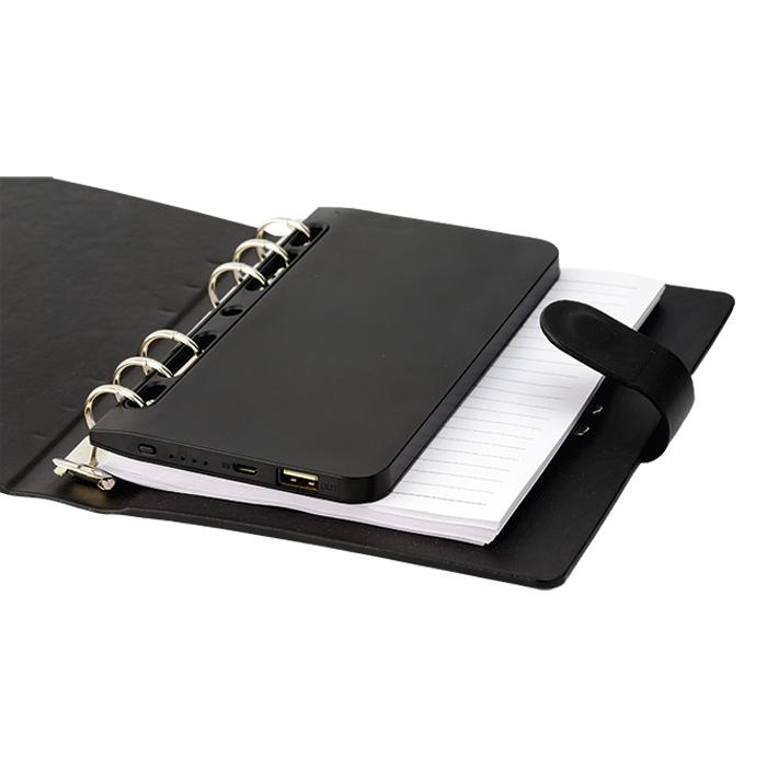 A5 Organiser With Power Bank4000 mAh - Avail in: Black