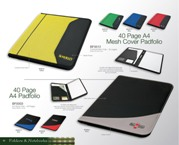 Colourful Mesh Folio - 40 Pages - Yellow