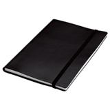 A5 Journal With Elastic Band Closure - 80 Pages - Black