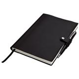 A5 Journal With Pen Holder - 128 Pages - Black