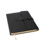 Executive A4 Notebook with Strap - Available in: Black