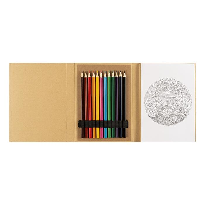 A5 Notebook With Colouring In Set - Avail in: Brown