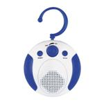 Shower Radio with Hanger - Available in: White/Blue