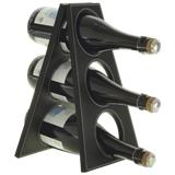 3 Bottle Wine Stand - Black