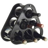 6 Bottle Wine Stand - Black
