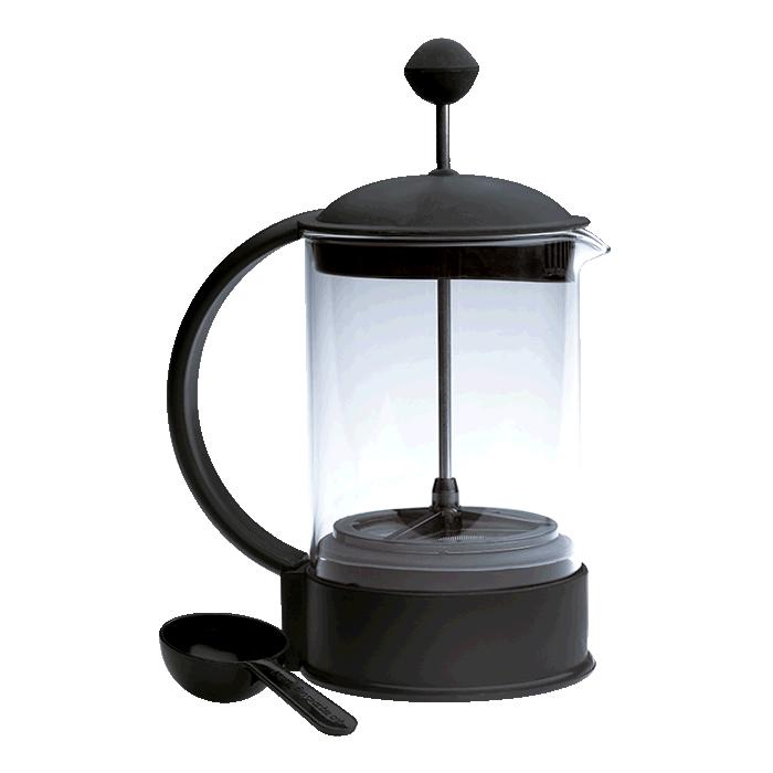 6 Cup Coffee Plunger - Black