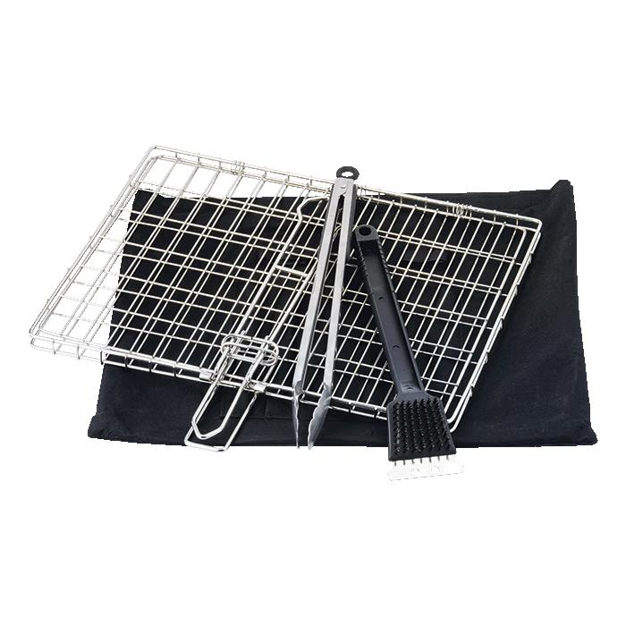 3 Piece Braai Set With Carry Bag - Avail in: Black