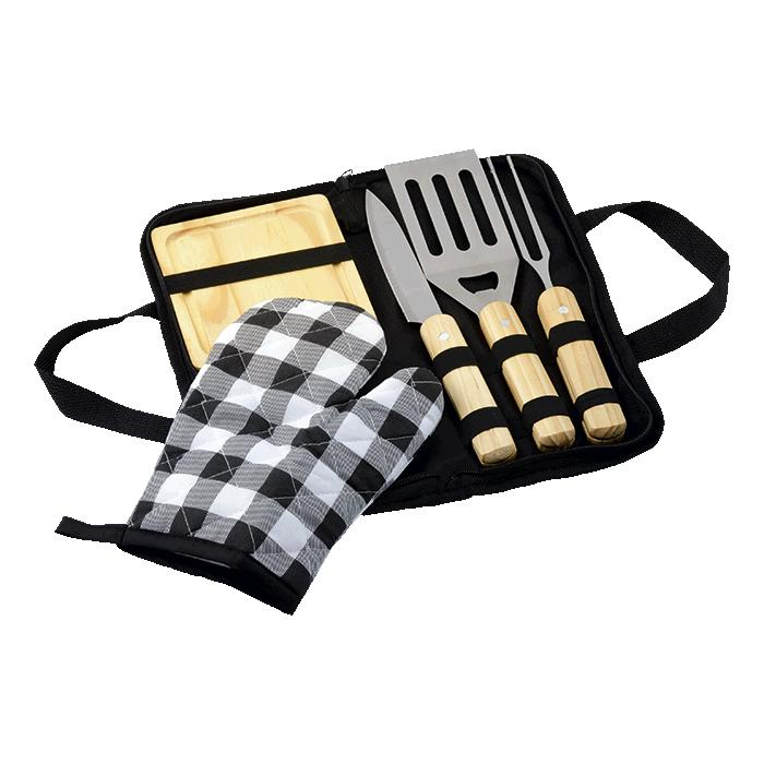 6 Piece Braai Set in Carry Bag - Avail in: Black