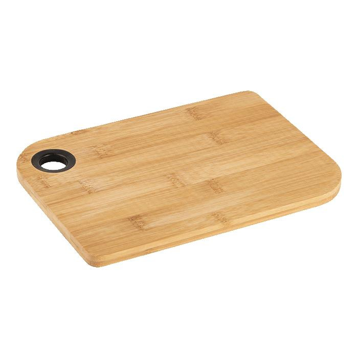 Bamboo Cutting Board With Thumb Hole - Avail in: Brown