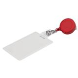 Round Retractable Badge Holder - Red