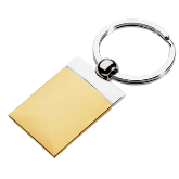 Gold Edge Rectangle Keychain
