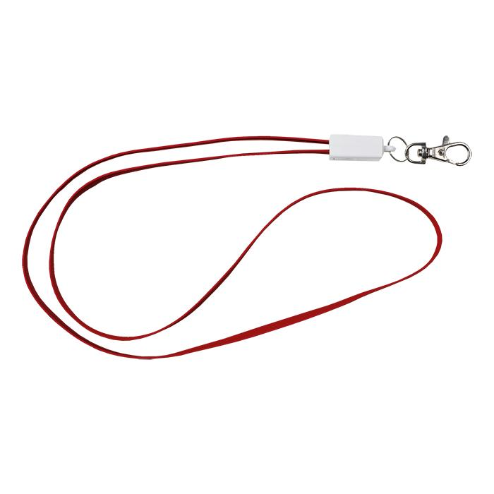 Lanyard Charging Cable - Avail in: Black, Blue, Red or White