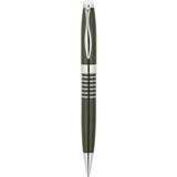 Six Ring Brass Ballpoint Pen - Satin Nickel