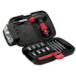 Flashlight Toolbox Set - Available in: Black/Red