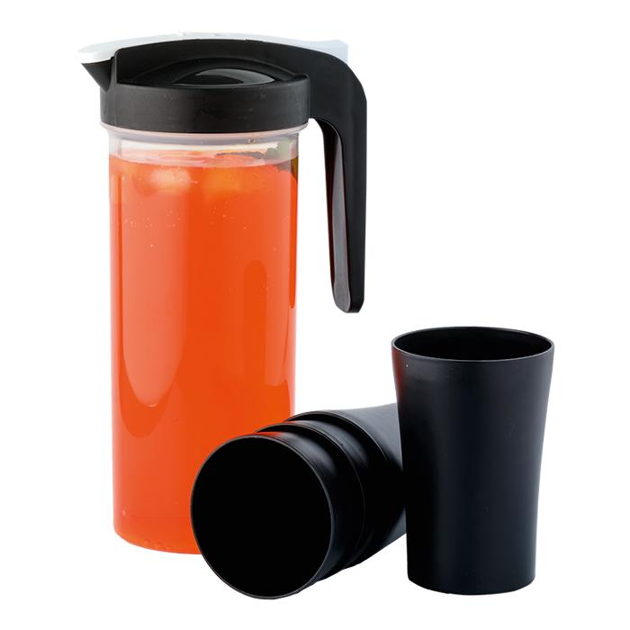 Jug With 4 Cups - Avail in: Black