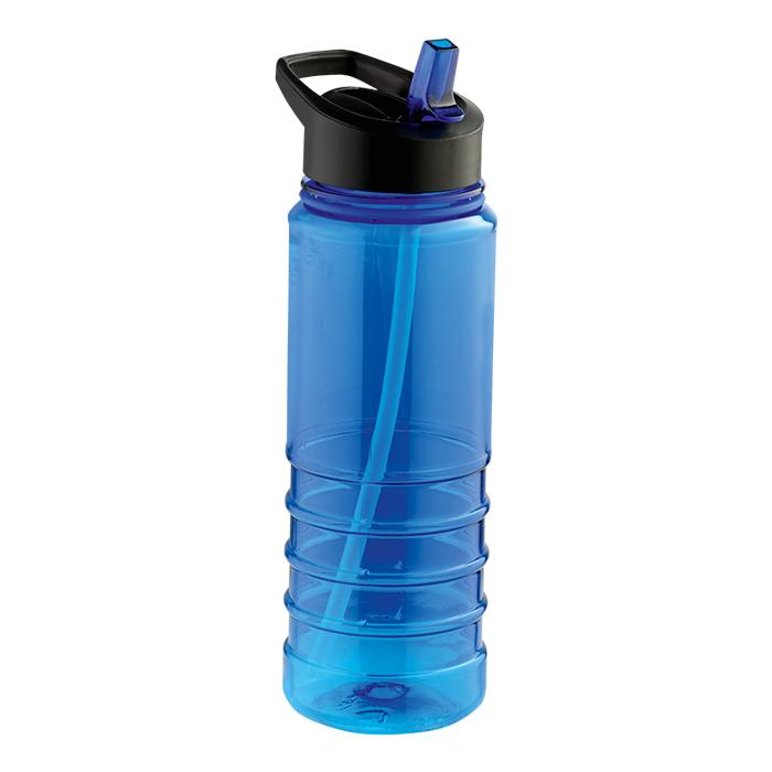 750ml Solid Coloured Tritan Bottle With Straw - Avail in: Blue,