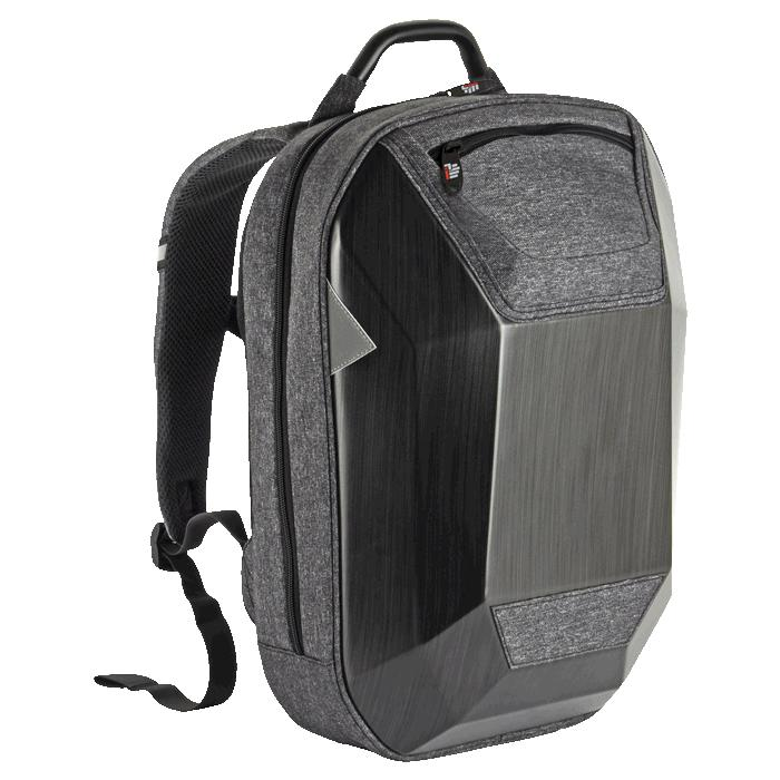 Hard Shell Protective Tech Laptop Backpack - Avail in: Grey/Blac