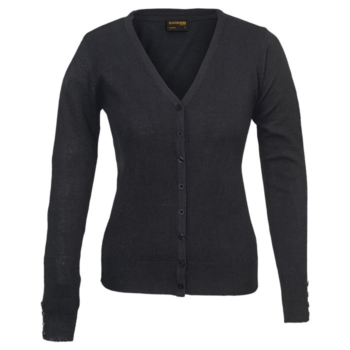Ladies Kelsey Cardigan - Avail in: Black or Navy