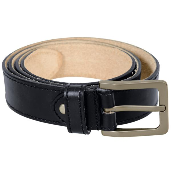 Work Wear Leather Belt - Available in: Black