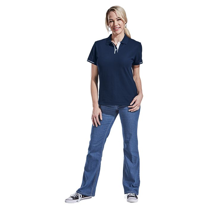Ladies Ray Golfer - Avail in: Black/White, Navy/White or Red/Bla