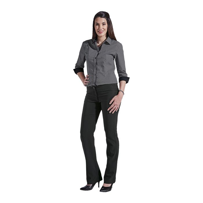 Ladies Saga Blouse - Avail in: Black, Grey, Navy, White