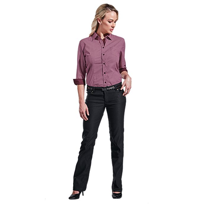 Ladies Stretch Chino Pants - Avail in: Black, Stone or Navy