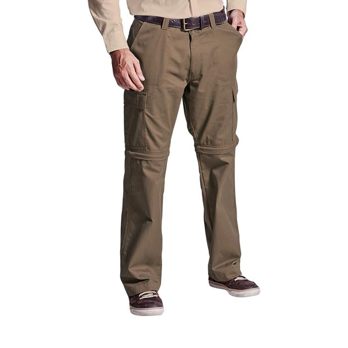 Mens Oliver Zip Off Cargo Pants. Khaki, Navy or Stone