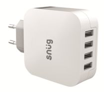 Snug 4 Port USB Home Charger - Avail in: White