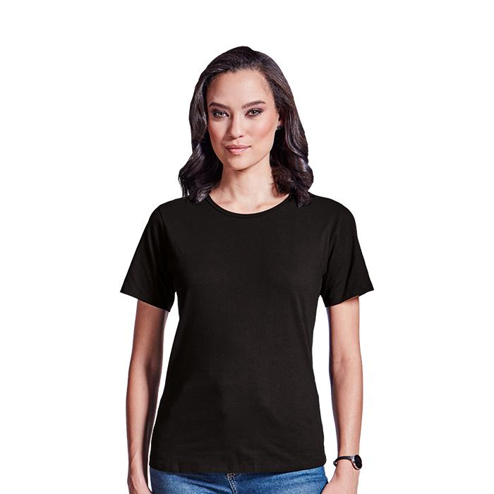 Ladies Organic Cotton Crew Neck T-Shirt. Black, Charcoal, Navy,