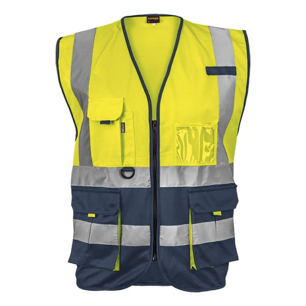 Hi Vis Signal Vest - Available in: Safety Orange/Navy or Safety