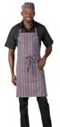 Deli Apron Charcoal/ Red / White