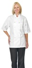 Chef Basics Chef Coat Short Sleeves White