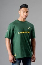 SA Rugby Basic T-Shirt - Gents T-Shirt - Availe in:Green / Gold
