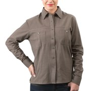 Ladies Tracker Long Sleeve Blouse - Availe in:Stone or Khaki