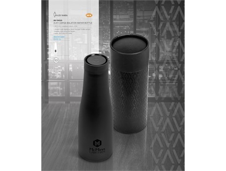 Alex Varga Balaton Water Bottle - Black