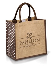 Polka Shopper - Available in Green or Brown