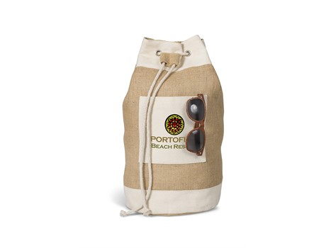 Pebble Beach Ruck Sack - Natural