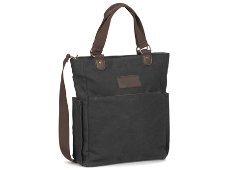 Hamilton Canvas Laptop Bag - Charcoal