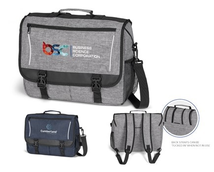 Collegiate Compu-Messenger Bag - Avail in: Grey or Navy