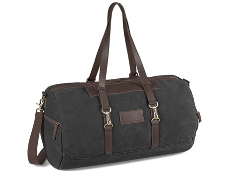 Hamilton Canvas Overnight Bag - Charcoal
