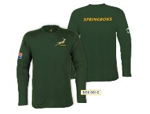 Unisex Long Sleeve Springbok T-Shirt - Available in Green or Whi