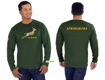 Unisex Long Sleeve Springbok T-Shirt (Version 3) - Available in