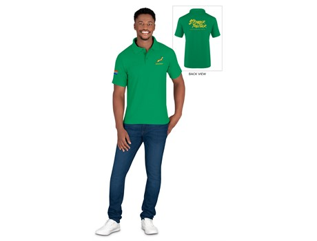 Springbok Mens Golf Shirt - Available in: Black, Navy, Green, Da
