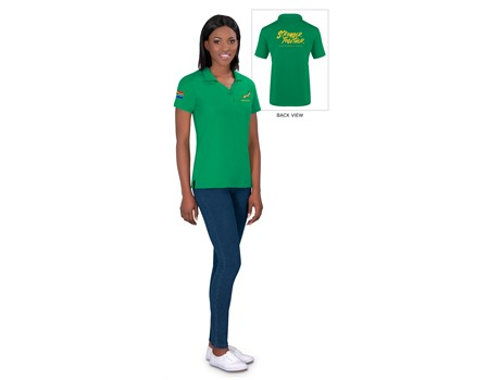 Springbok Ladies Golf Shirt - Available in: Black, Navy, Green,