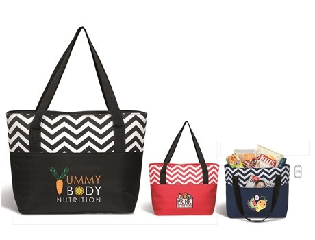 Ripple Tote Cooler - Black, Navy or Red