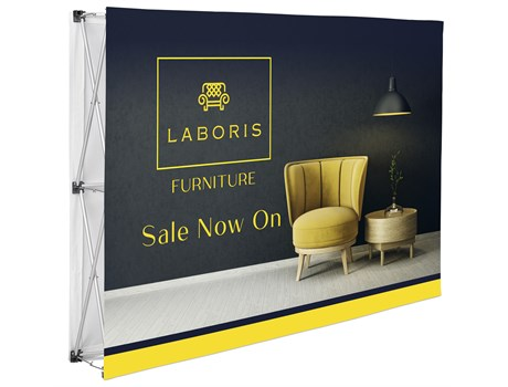 Legend Double Sided Straight Bannerwall 1.52 x 2.25m